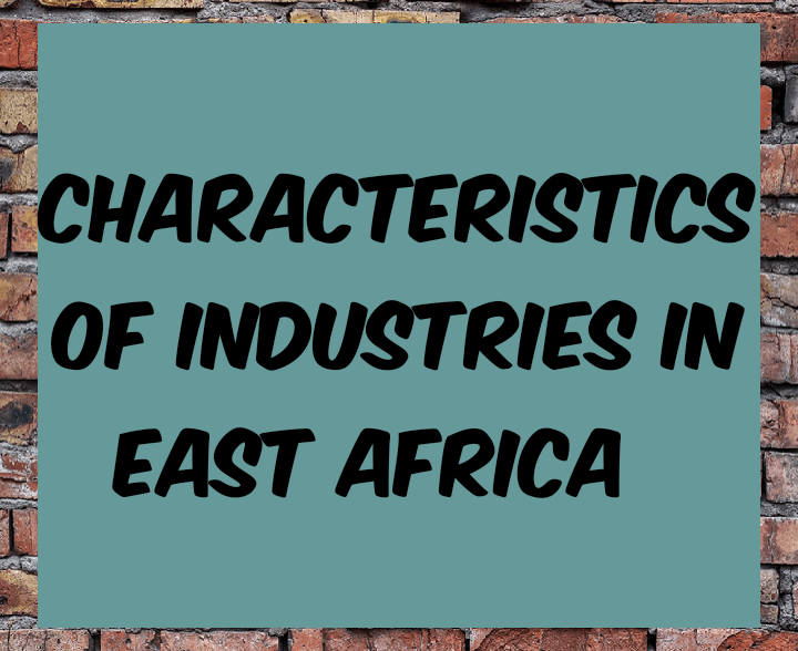 Characteristics of industries in East Africa