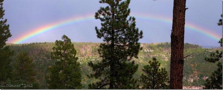 08 Rainbow over Roaring Springs Canyon NR GRCA NP AZ pano (3600x1449) (1024x412)