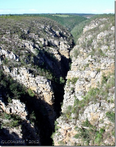 Downstream Storms River canyon from Paul Sauer Bridge Eastern Cape South Africa