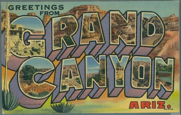 Historic postcard from GRCA