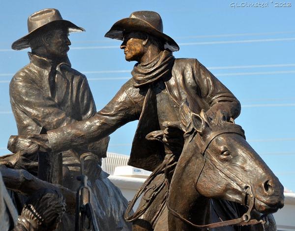 Cowboy bronze sculpture by Bradford Williams