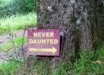 Never-Daunted-sign-Hogsback-SA