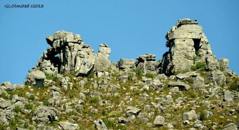 Rock formations along Mitchell's Pass SA