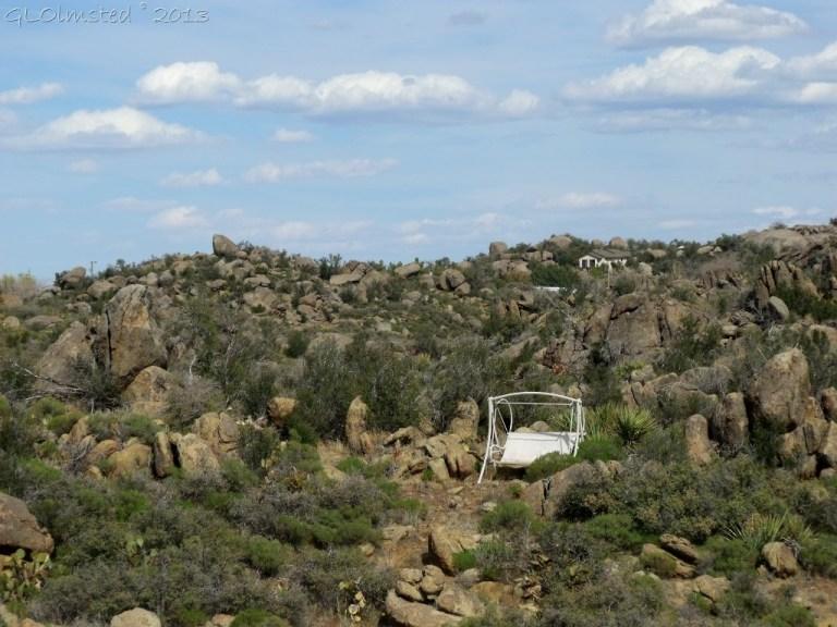 Swing in boulders along private road Weaver Mts Yarnell AZ