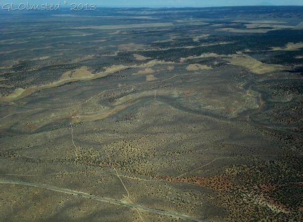 Airplane view near Fredonia AZ