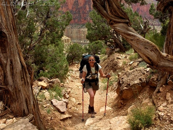 Gaelyn backpacking on Bright Angel trail Grand Canyon National Park Arizona
