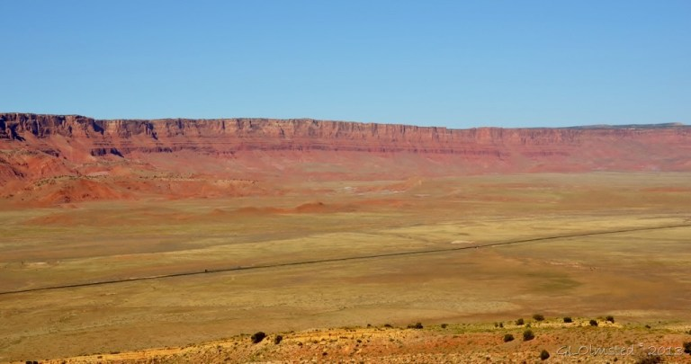 Vermilion Cliffs & House Rock Valley from overlook SR89A N Arizona