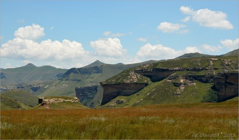 View from loop drive Golden Gate Highlands National Park South Africa