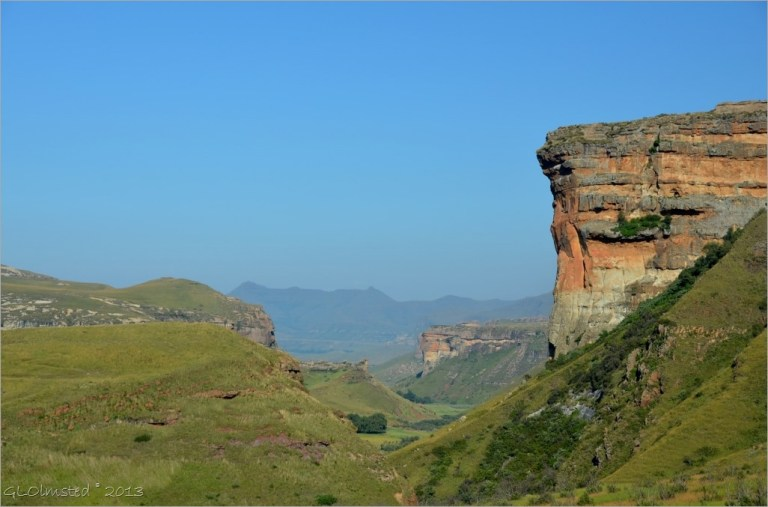 View from Echo Ravine trail Golden Gate Highlands National Park South Africa