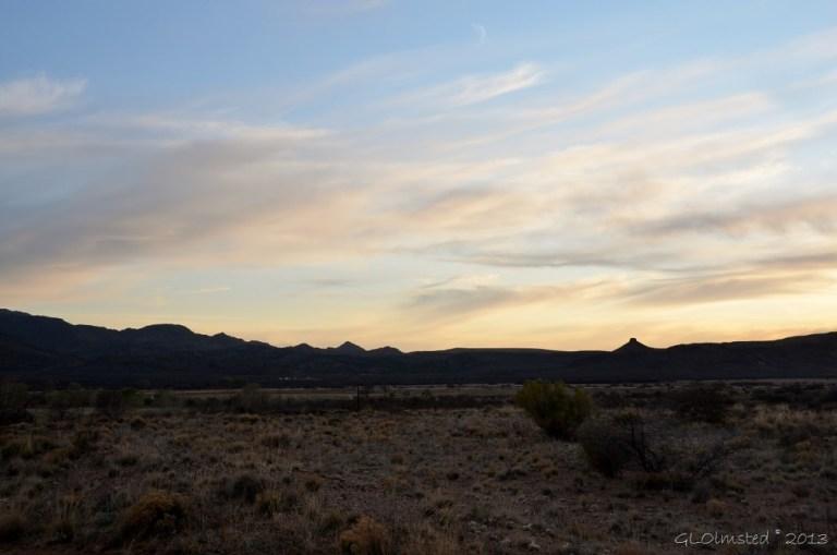 Sunset over Weaver Mts near Kirkland Arizona