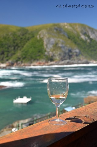 Wine glass at Storms River Mouth Tsitsikamma National Park South Africa