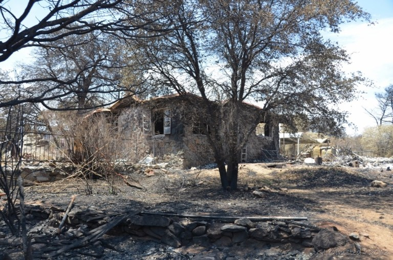 Back of Berta's house Yarnell Arizona