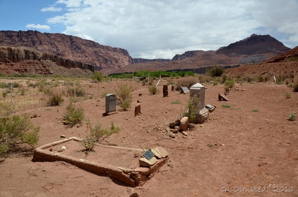 Pioneers cemetery at Lonely Dell Ranch Lees Ferry Arizona