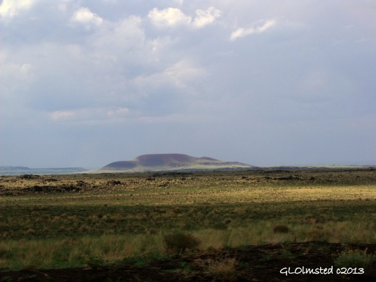 Cinder cones along Indian Road 70 to Grand Falls Arizona