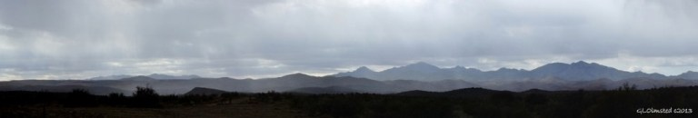 Rain on the Weaver Mts from Iron Springs Rd Arizona