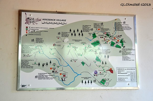 Village map Hogsback South Africa