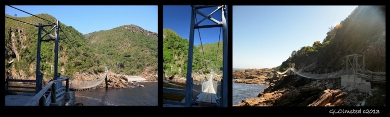 Suspension bridges Storms River Mouth Tsitsikamma National Park South Africa