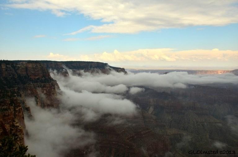 Fog in canyon North Rim Grand Canyon National Park Arizona