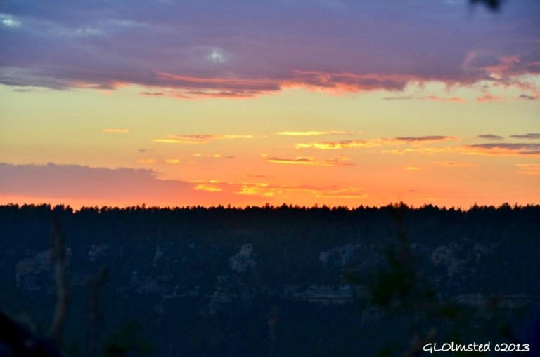 Sunset over Transept Canyon North Rim Grand Canyon National Park Arizona