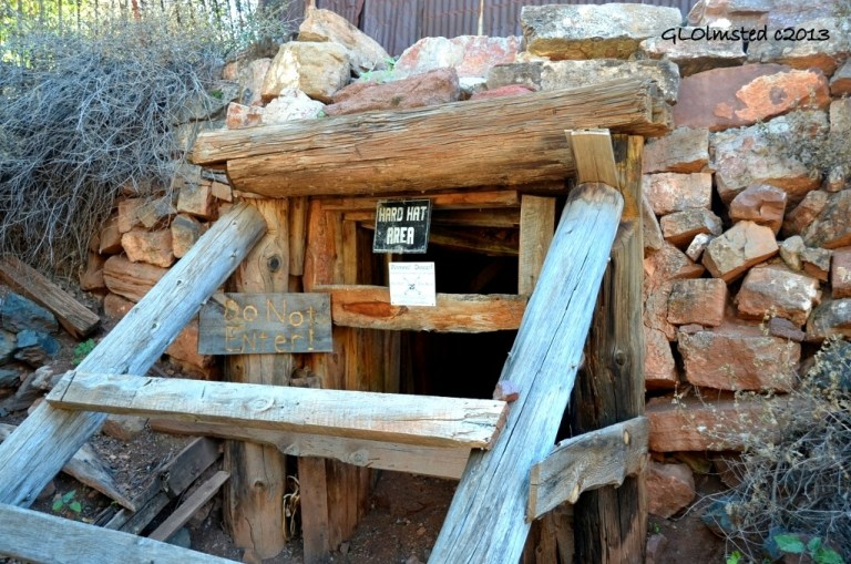 Mine entrance Gold King Mine Ghost Town Jerome Arizona