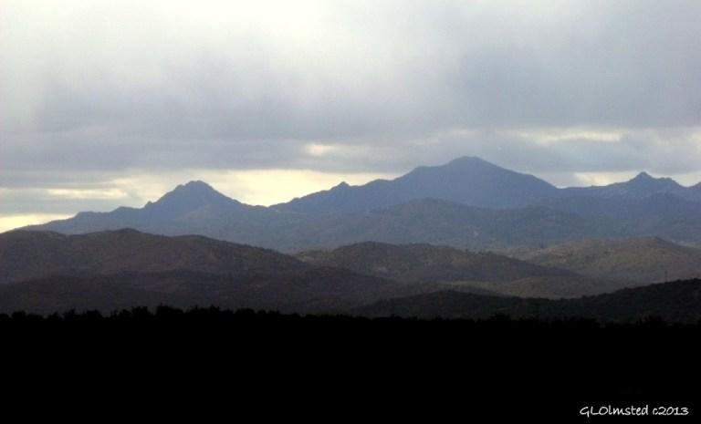 Weaver Mountains from Iron Springs Road Arizona