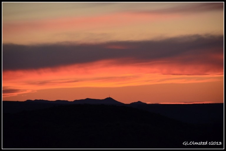 Sunset over Weaver Mountains Kirkland Arizona