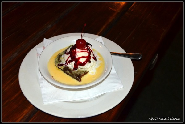 Malva with custard & ice cream desert Warmwaterberg Spa Barrydale South Africa