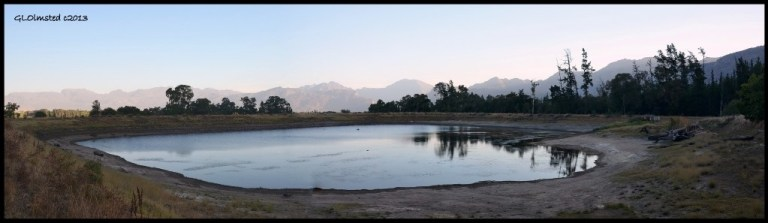 Dam with mountain views at Rodene Farm Ceres South Africa