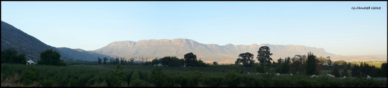 Mountain view from dam at Rodene Farm Ceres South Africa