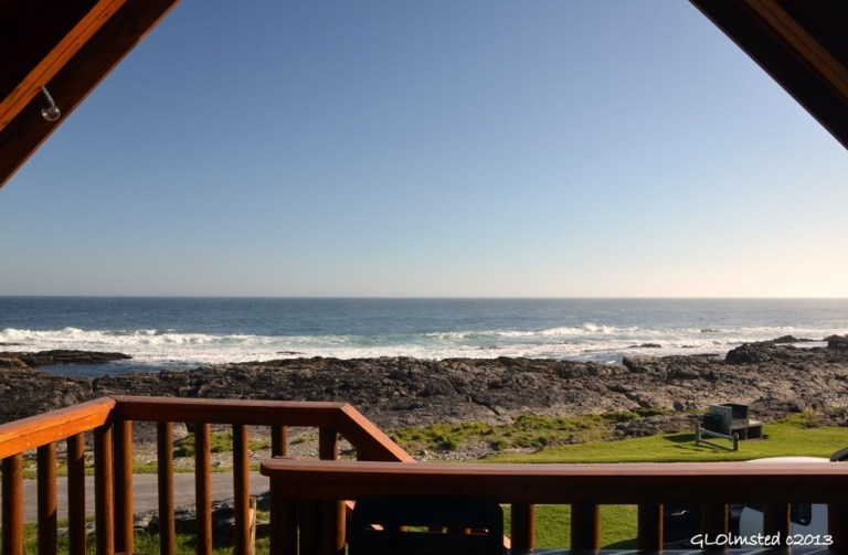 Ocean view from chalet at Storms River Mouth Tsitsikamma National Park South Africa