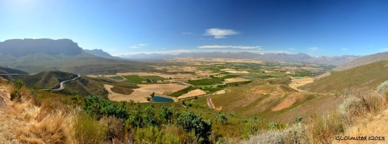 View from Gydo Pass above Ceres Valley South Africa