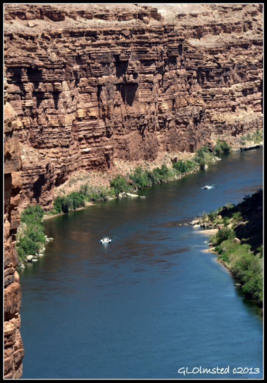 National Park Service boats Marble Canyon from Navajo Bridge Arizona