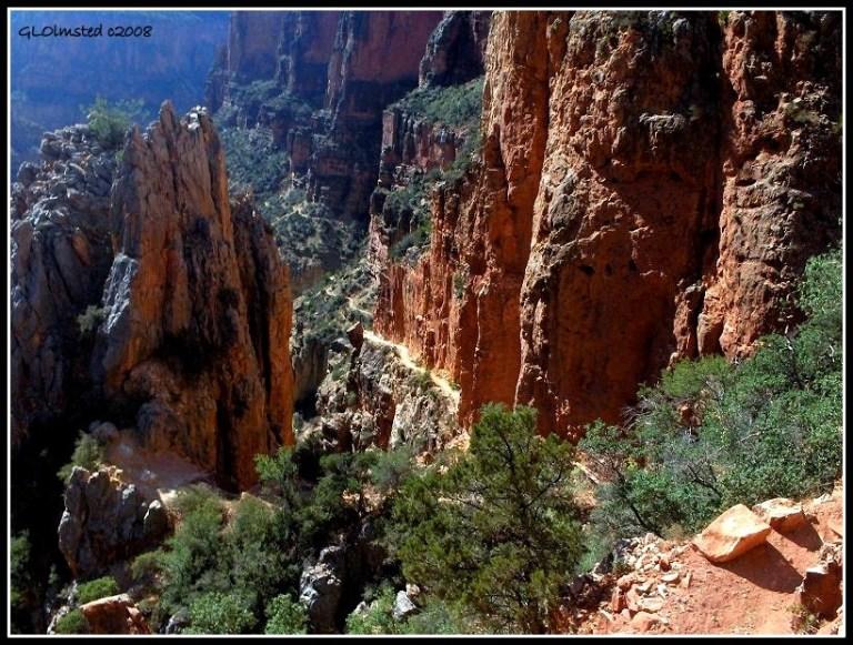 Needles eye North Kaibab trail Roaring Springs Canyon Grand Canyon National Park Arizona