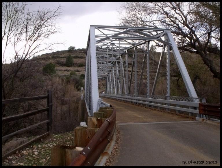 Hassayampa River Bridge Wagner Road west Arizona