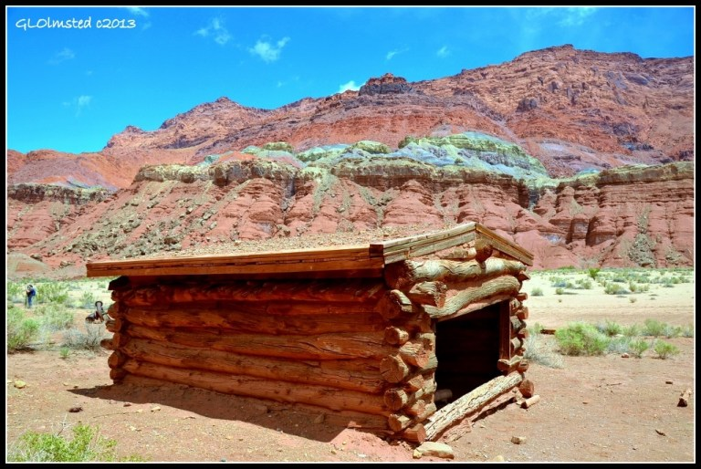 Old building at Lonely Dell Ranch Lees Ferry Glen Canyon National Recreation Area Arizona