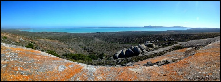 View from Seeberg view point West Coast National Park Langebaan South Africa
