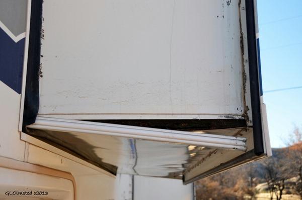 Broken bedroom slide on RV