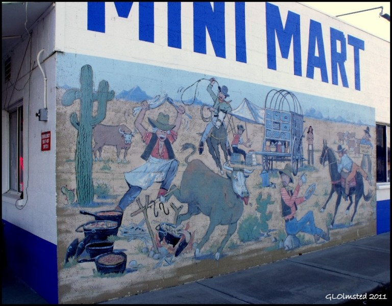 Mural at Mini Mart Peeples Valley Arizona