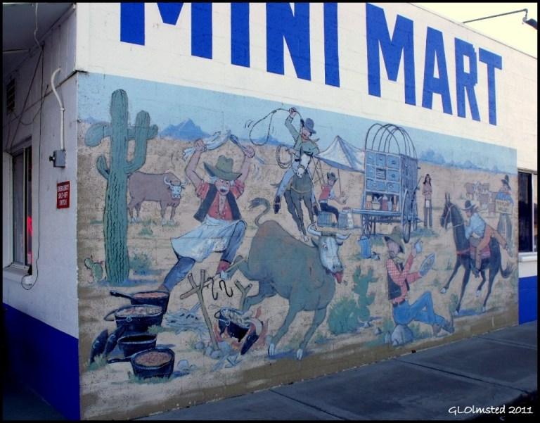Mural at Mini Mart Peeples Valley Arizona