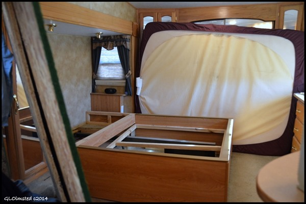 Bed area in RV torn apart Yarnell Arizona