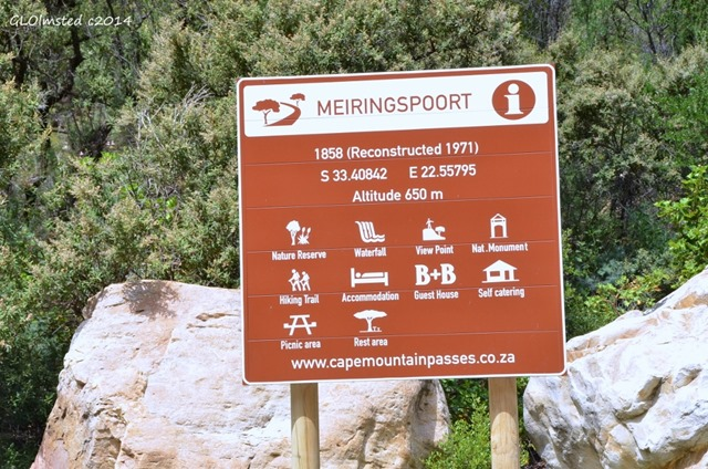 Meiringspoort sign South Africa