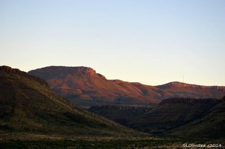 Morning light on escarpment Karoo National Park South Africa