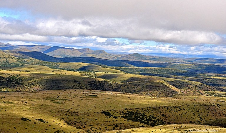 View across Mountain Zebra National Park South Africa