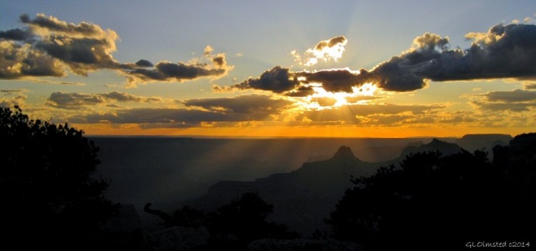 Sunset Cape Royal Walhalla Plateau North Rim Grand Canyon National Park Arizona
