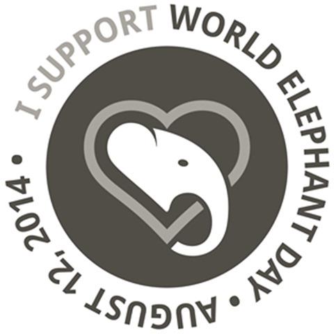 02 I support World Elephant Day logo