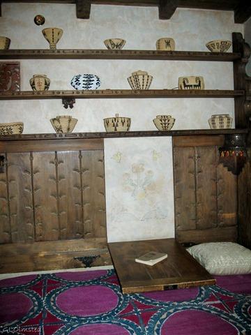 Bed & desk in Bessie Johnson's bedroom Scottys Castle Death Valley National Park California