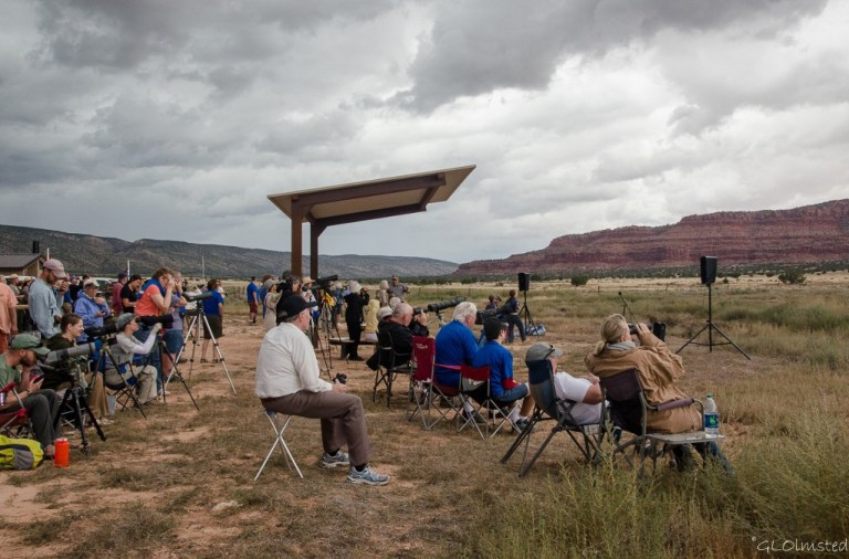 Crowd at Condor release Vermilion Cliffs Bureau of Land Management Arizona