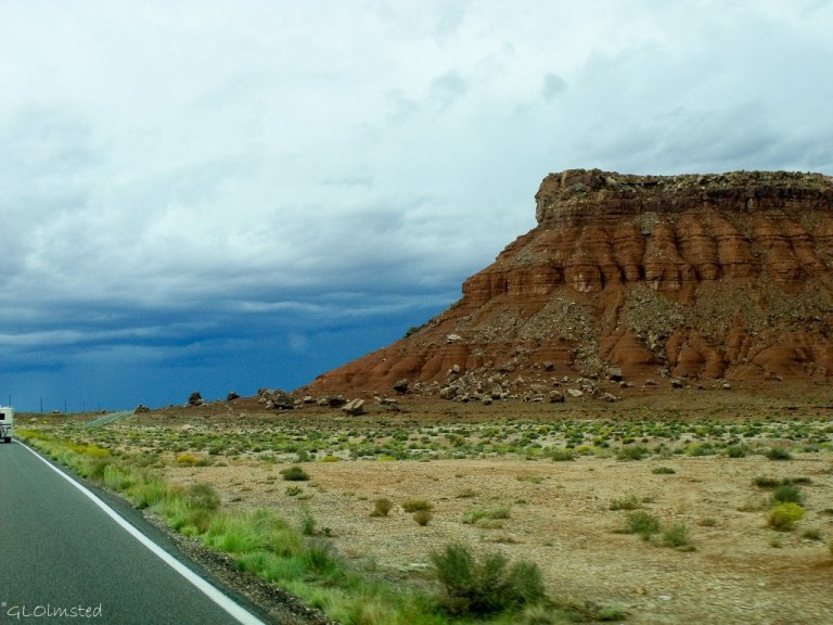Stormy sky over Vermilion Cliffs SR89A Arizona