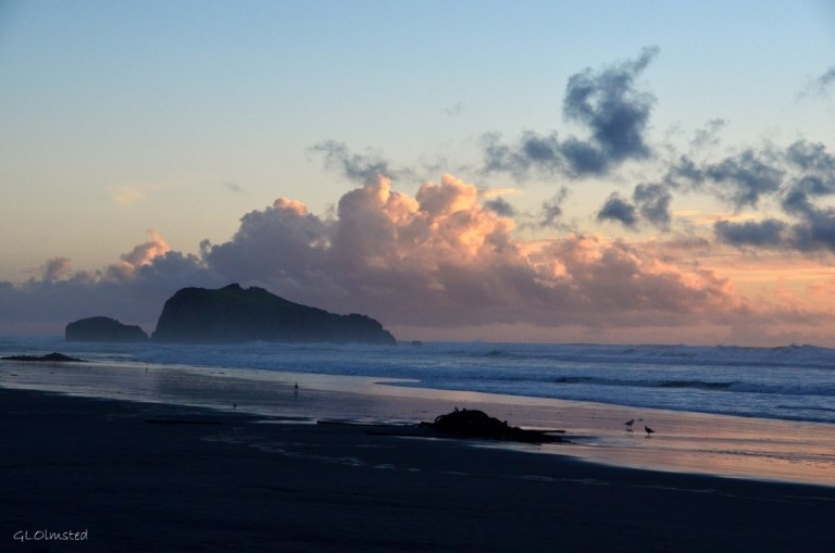 Beach at sunset Bandon Oregon