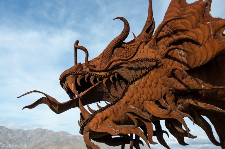 Serpent metal sculpture by Ricardo Breceda Galleta Meadows Borrego Springs California